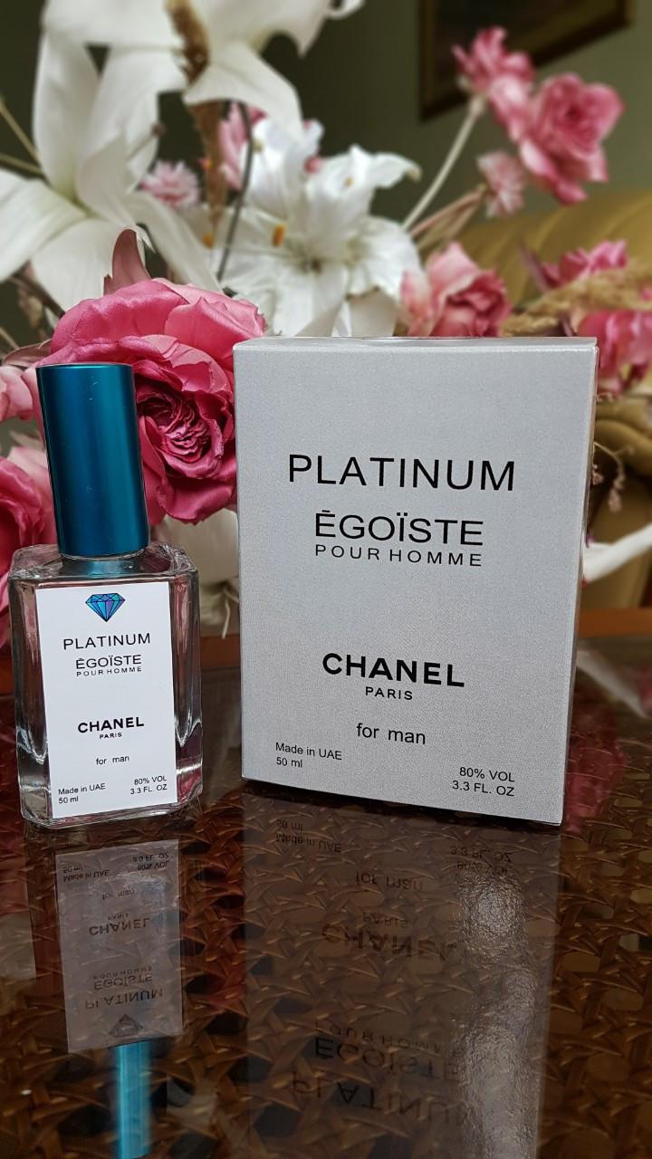 Chanel Egoiste Platinum (шанель эгоист платинум) мужской мини-парфюм тестер 50 ml Diamond ОАЭ (реплика)