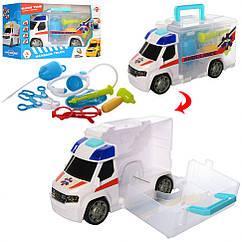 Дитячий ігровий набір машинка швидкої допомоги 969-K09 з медичними інструментами