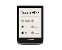 PocketBook 632 Touch HD 3 Metallic Gray (PB632-J-WW), фото 1