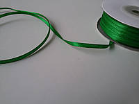 Лента атлас 3 мм зеленая