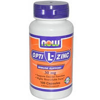 NOW Цинк L-OptiZinc 30 mg (100 caps)