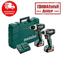 Набор инструментов Metabo Combo Set 2.7.1 12 V * BS+SSD, 2x2.0Ah ( шуруповерт BS + гайковерт SSD)(090109714)