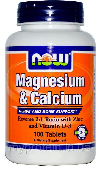 NOW Магний кальций Magnesium & Calcium (250 tab)