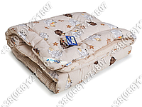 Одеяло детское шерстяное 105х140 зимнее Барашки