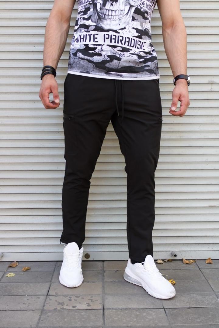 Зимние мужские  штаны на флисе Сл 2072