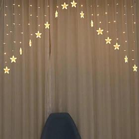 Гирлянда занавес-бахрома Звездочки 136 led, длина 3 метра