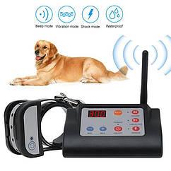 Беспроводной электронный забор для собак + электронный ошейник для дрессировки 2в1 Petguider883-1