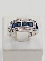 Золотое кольцо с сапфиром и бриллиантом К001-0865