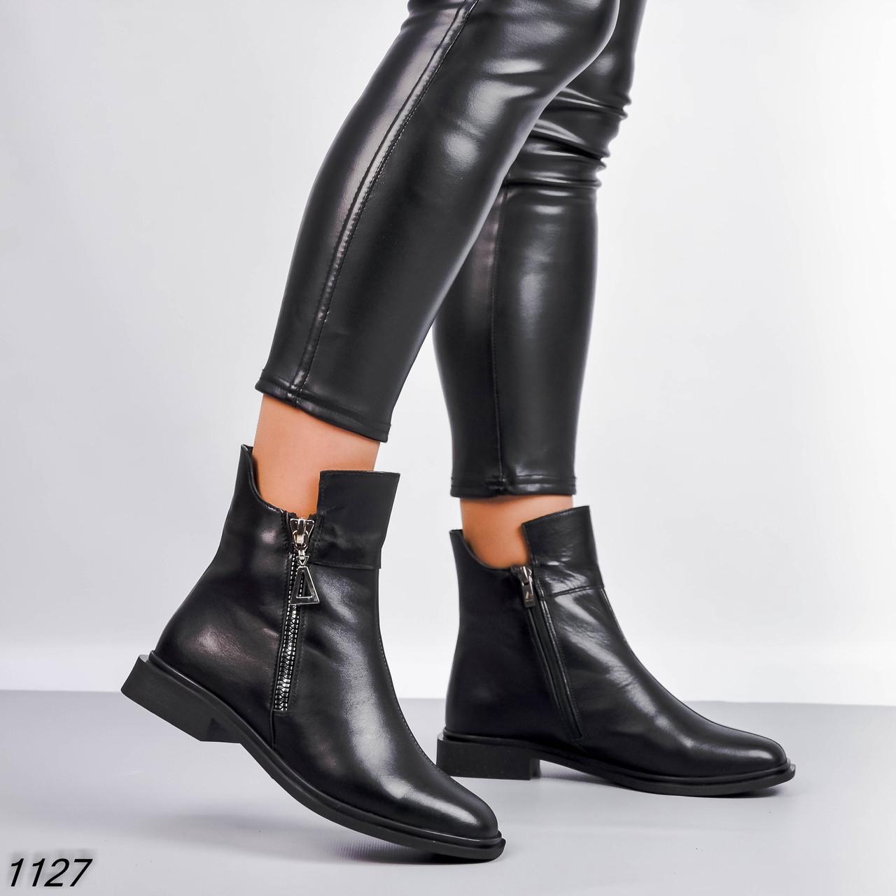 Жіночі черевики Колір - Чорний Матеріал - нат.шкіра