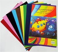 Бумага цветная 8005-8 A4 бархатная 8листов в папке уп12