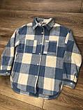 Стильная рубашка оверсайз кашемир 122-164р от производителя, фото 8