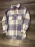 Стильная рубашка оверсайз кашемир 122-164р от производителя, фото 4
