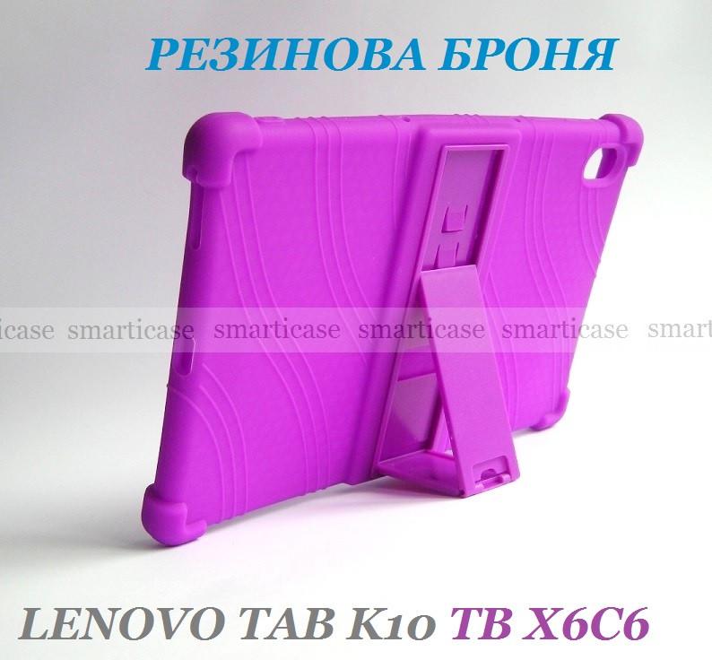 Сиреневый чехол на силиконе для девушки Lenovo Tab K10 (tb-x6c6) Ivanaks Tpu Purple