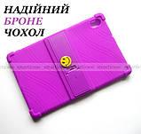 Сиреневый чехол на силиконе для девушки Lenovo Tab K10 (tb-x6c6) Ivanaks Tpu Purple, фото 5