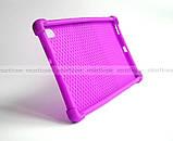Сиреневый чехол на силиконе для девушки Lenovo Tab K10 (tb-x6c6) Ivanaks Tpu Purple, фото 4