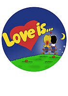 """Вафельная  и сахарная картинка """"Любовь"""" в ассортименте, фото 1"""
