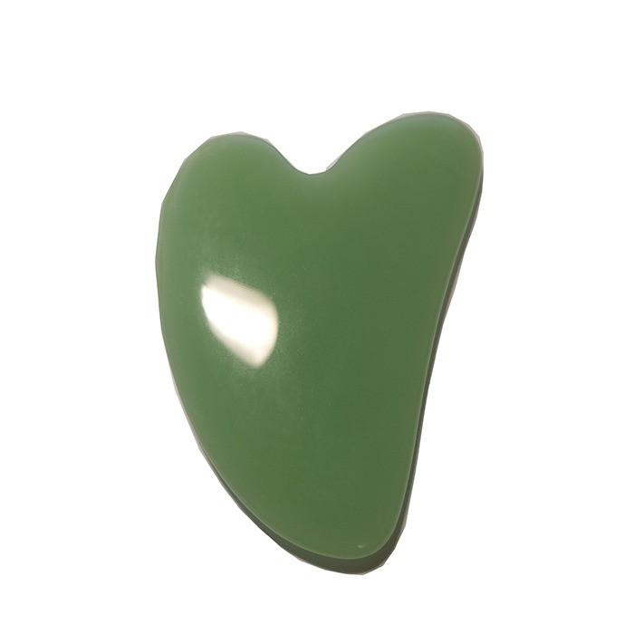 Скребок гуаша нефритовый Сердце