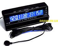 Автомобильные часы термометр вольтметр VST 7010V синяя подсветка