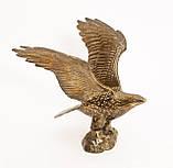 Старая скульптура, орел, латунь, Германия, фото 3