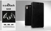 Кожаный чехол книжка MOFI для HTC Desire 626G dual sim чёрный