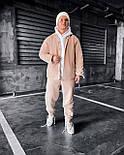 Спортивный костюм - Мужской спортивный костюм бежевый / чоловічий спортивний костюм бежевий на холодну осінь, фото 2