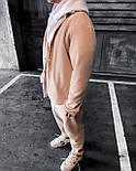 Спортивный костюм - Мужской спортивный костюм бежевый / чоловічий спортивний костюм бежевий на холодну осінь, фото 3