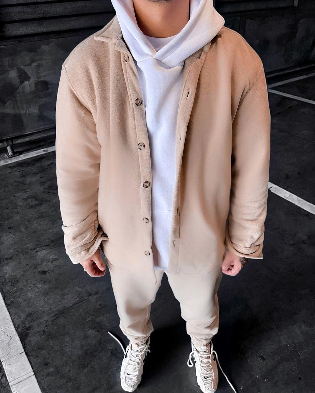 Спортивный костюм - Мужской спортивный костюм бежевый / чоловічий спортивний костюм бежевий на холодну осінь