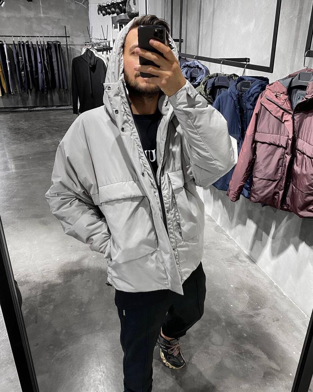 😜 Куртка - Мужская куртка серая на холодную осень / чоловіча куртка сіра на холодну осінь