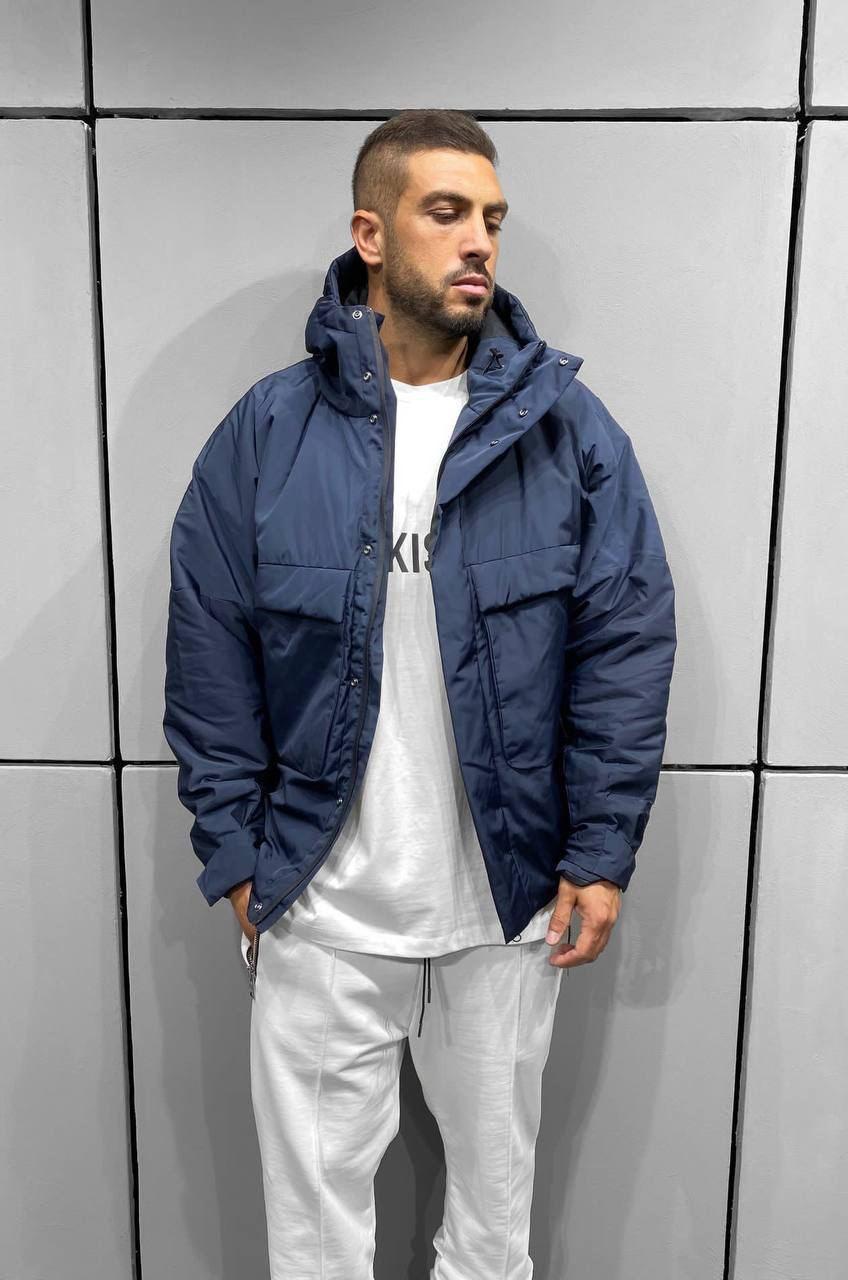 😜 Куртка - Мужская куртка синяя на холодную осень / чоловіча куртка синя на холодну осінь
