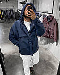 😜 Куртка - Мужская куртка синяя на холодную осень / чоловіча куртка синя на холодну осінь, фото 3