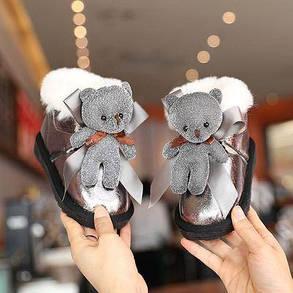 Угги для девочки низкие с мишкой, фото 2