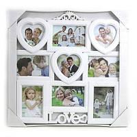 """Фоторамка збірна 9 в 1 """"Love"""", (13*13)*3+(10*15)*6, 743003"""