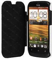 Чехол-книжка кожаная Melkco для HTC Desire V белая
