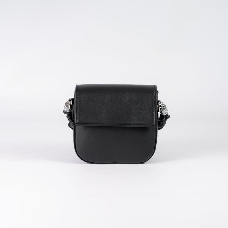 Сумочка женская черная через плечо модная mini сумка повседневная кросс боди черного цвета