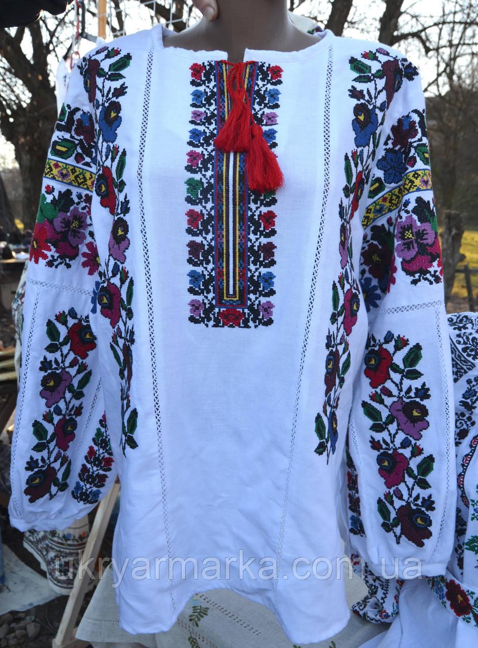"""Жіноча вишивана блузка """"Фіалка"""""""