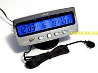 Автомобильные часы с вольтметром и термометром VST 7045V, фото 1