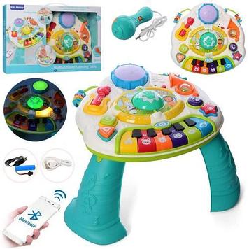 Детский развивающий центр  Музыкальный столик с пианино Игровой детский столик с интерактивной панелью