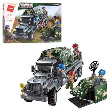Конструктор детский Qman нападение на военный грузовик Игровой конструктор для мальчика Блочный конструктор