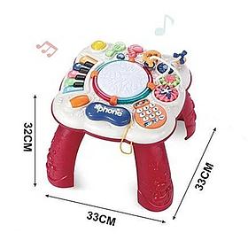 """Розвиваючий музичний ігровий центр """"Музичний столик"""" CY - 7009 B Червоний"""