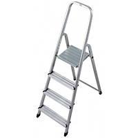 Стемянка KRAUSE CORDA 4 ступени алюминиевая приставная лестница металическая складная универсальная 1 сторона