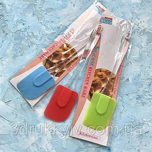 Силіконова кондитерська лопатка для кухні 24 см роз'ємна/ Силиконовая кондитерская лопатка для кухни разъёмная