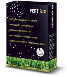 Удобрение для газона с эффектом борьбы с мхом Fertis NPK 15-0-0+Fe 1кг