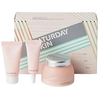 Набір косметики для очищення та догляду за шкірою обличчя Saturday Skin Essentials Travel Set мініатюри