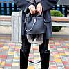 Удобная городская женская черная мини сумка почтальонка кросс боди через плечо, фото 6