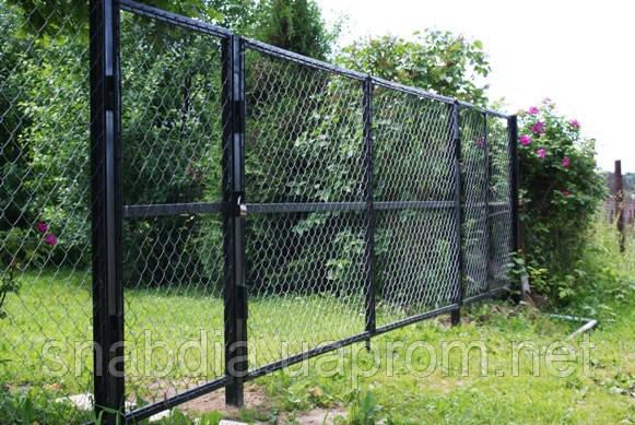 Забор из сетки-рабицы, фото 2