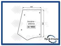 Стекло экскаватор-погрузчик Hitachi B95 B100 B110B B200B FB100.2 FB110.2 FB200.2- Боковая (левая, правая)