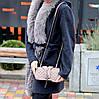 Брендовая бежевая женская мини сумка клатч кросс боди через плечо, фото 4