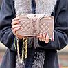 Брендовий бежева жіноча міні сумка клатч крос боді через плече, фото 8