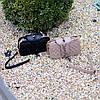 Брендовая бежевая женская мини сумка клатч кросс боди через плечо, фото 10