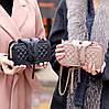 Брендовий бежева жіноча міні сумка клатч крос боді через плече, фото 9